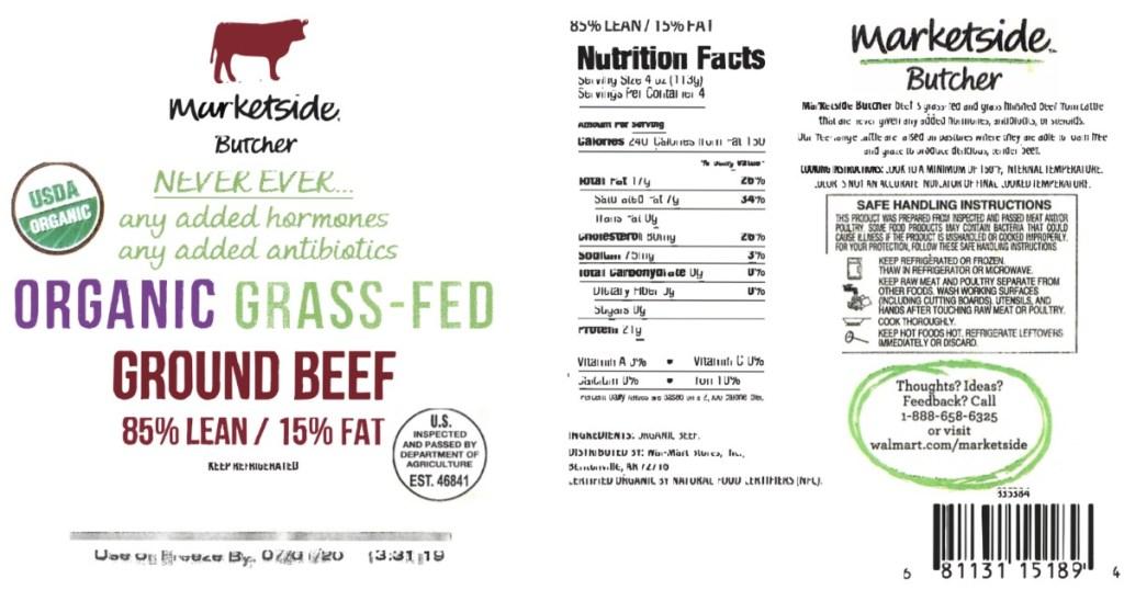 Walmart Meat Packaging labels