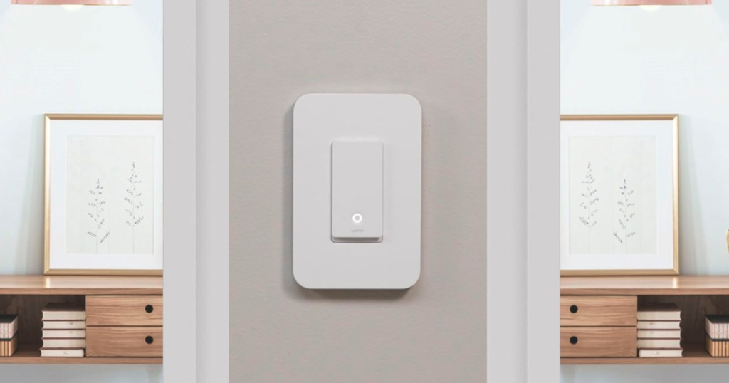 smart light switch on wall in home