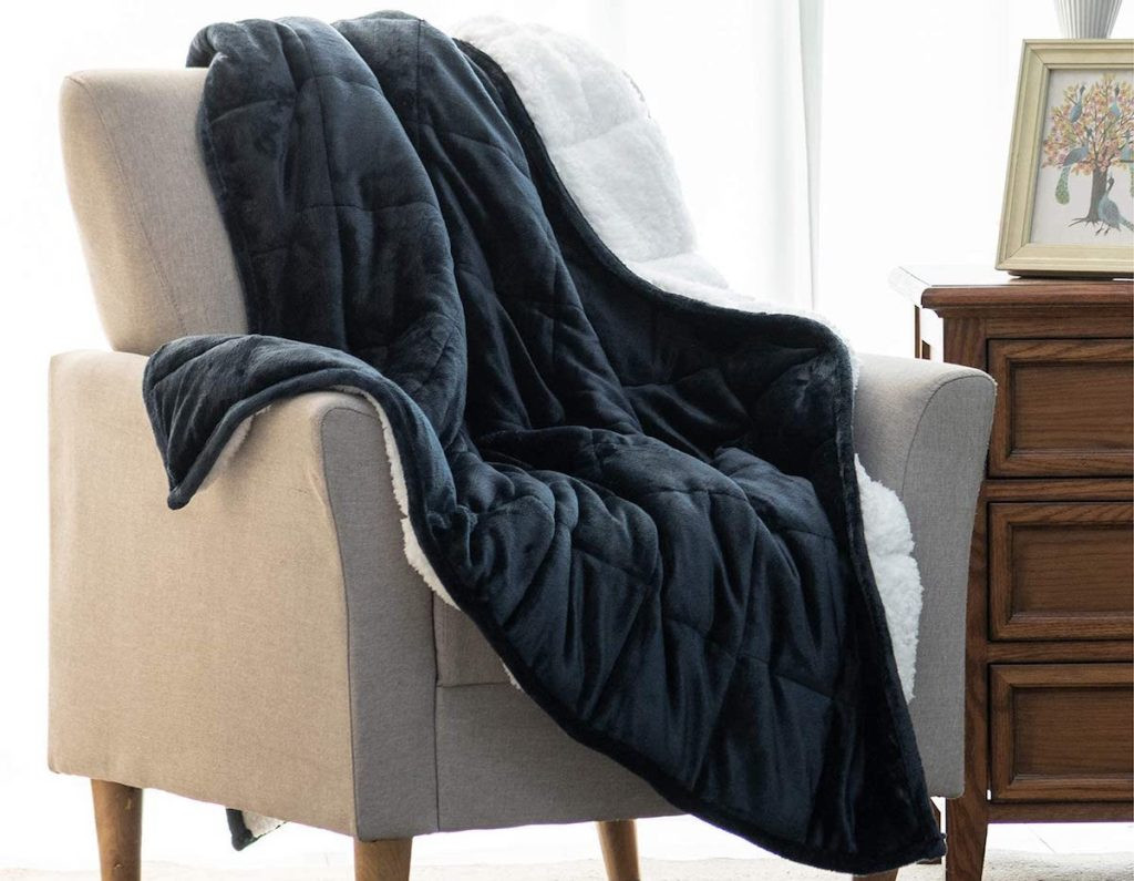 blanket on a chair