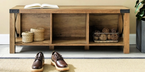 Reclaimed Barnwood Entry Bench Only $167 Shipped on Home Depot (Regularly $230)