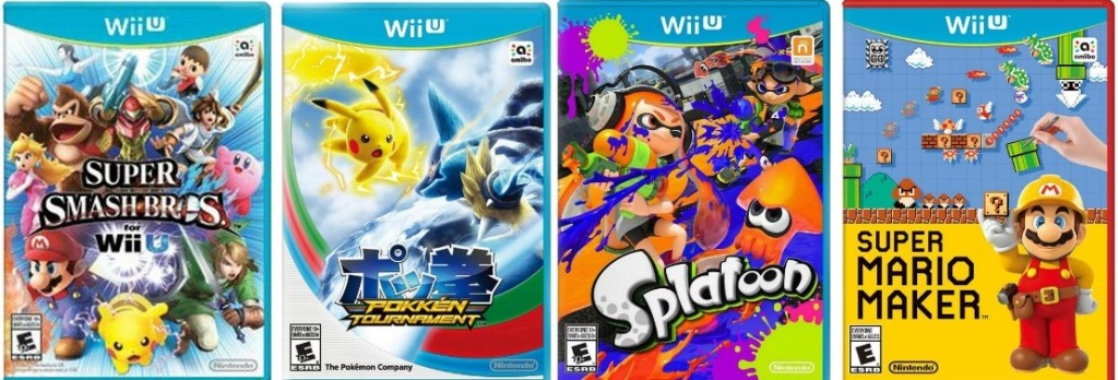 row of Wii U games