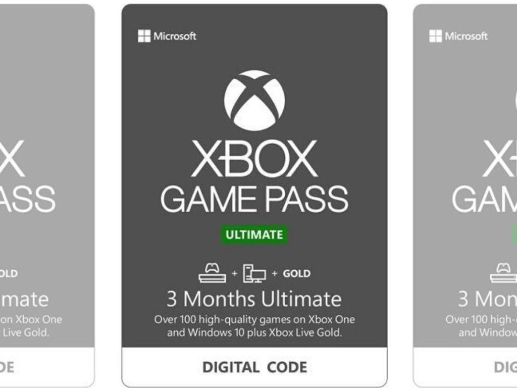 xbox digital game pass card