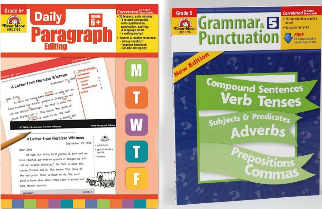 Two school workbooks for kids