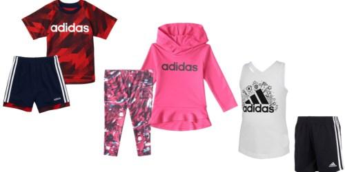Up to 60% Off Adidas Kids Apparel 2-Piece Sets on Kohl's.com