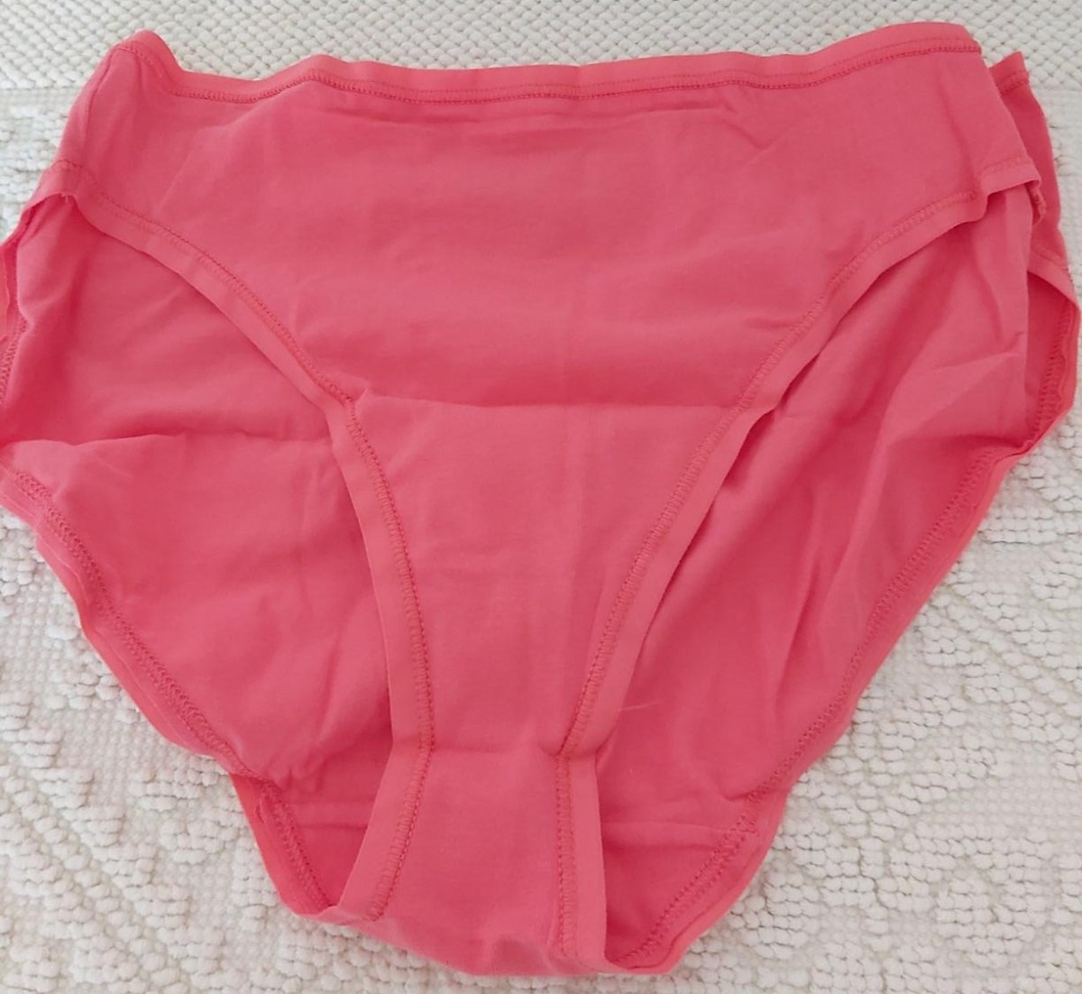 coral colored women's bikini briefs
