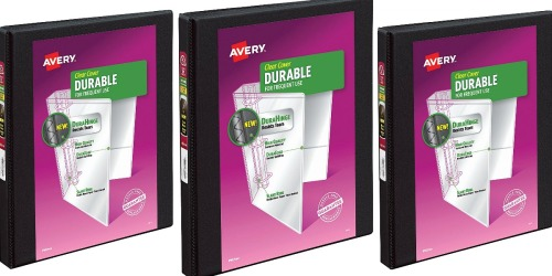 Avery Clear Cover Durable Binder Only $1.27 on Amazon (Regularly $6)