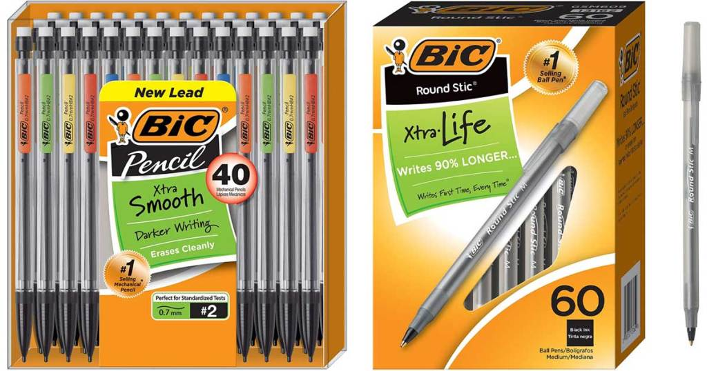 stock images of bic mechanical pencils and pens