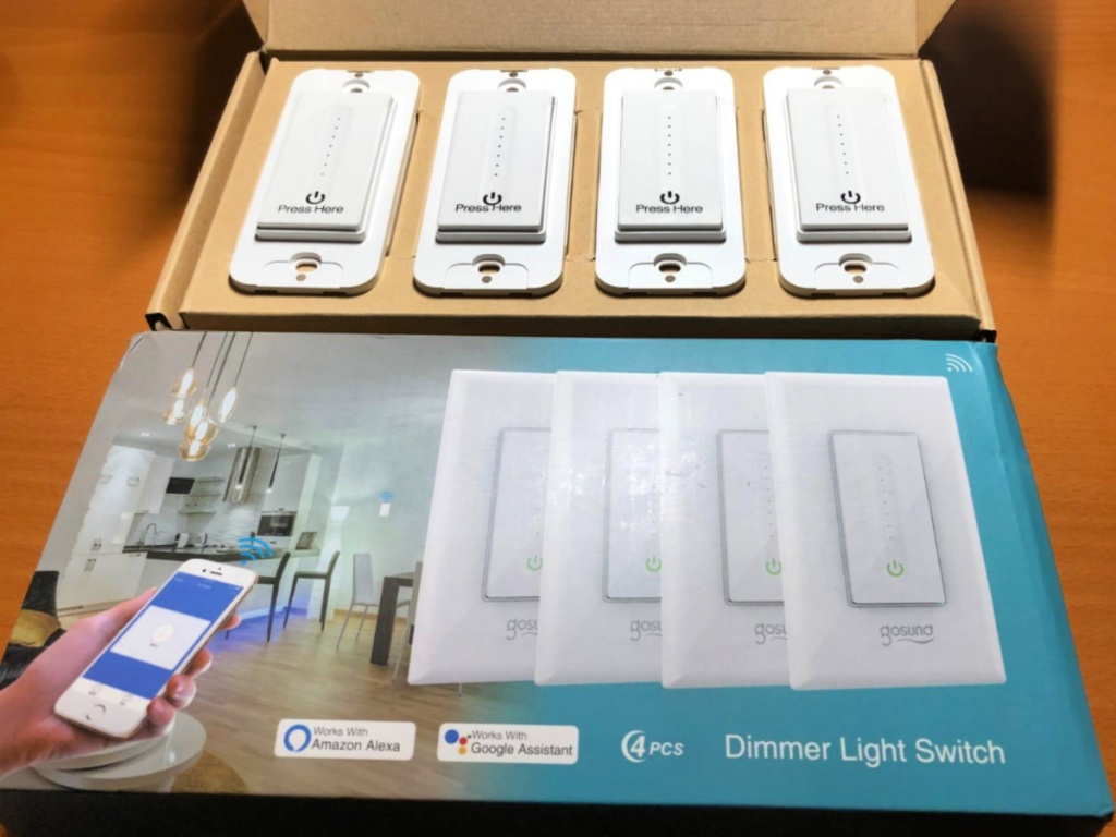 box of 4 Gosuna light switches
