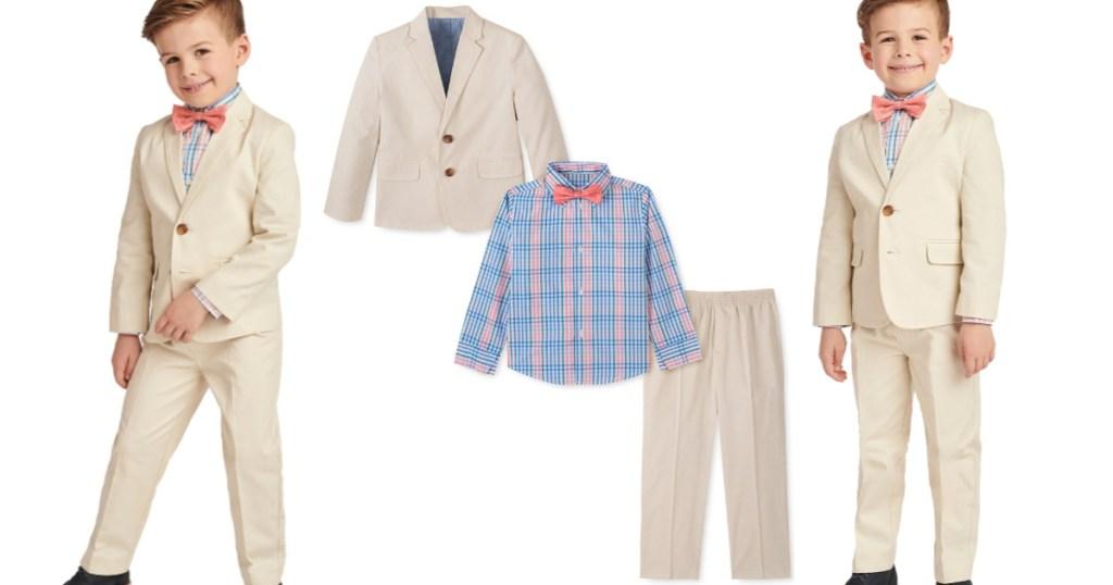 Nautica Little Boys 4-Piece Fine Twill Suit Set