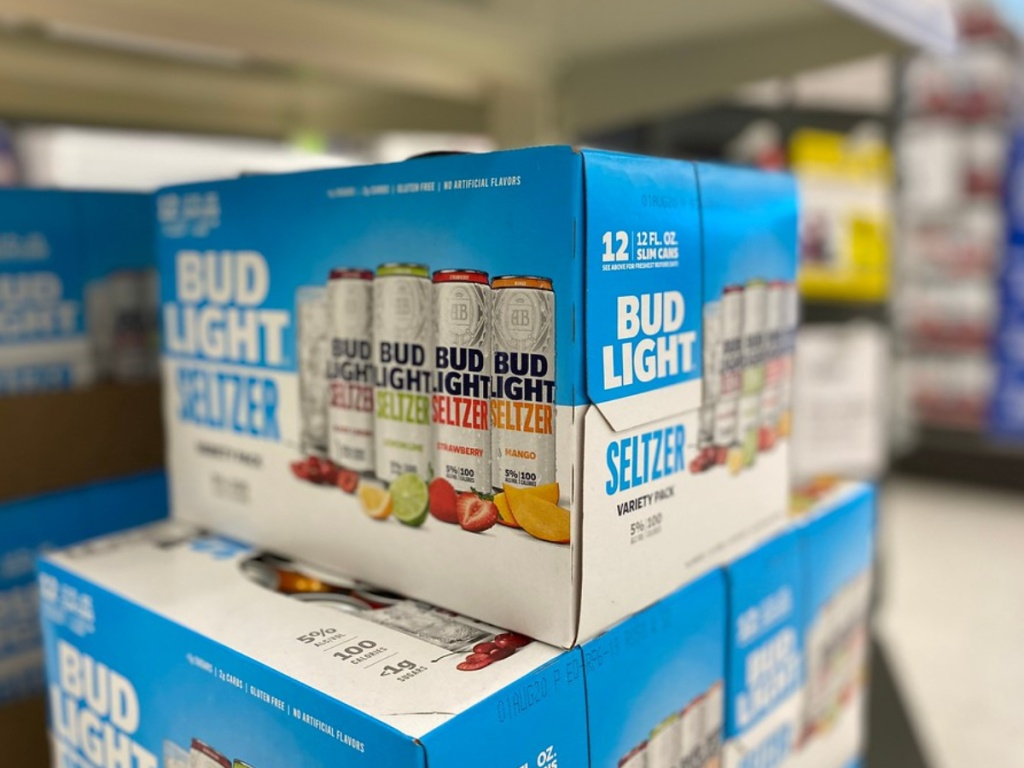 bud light seltzer on store shelf