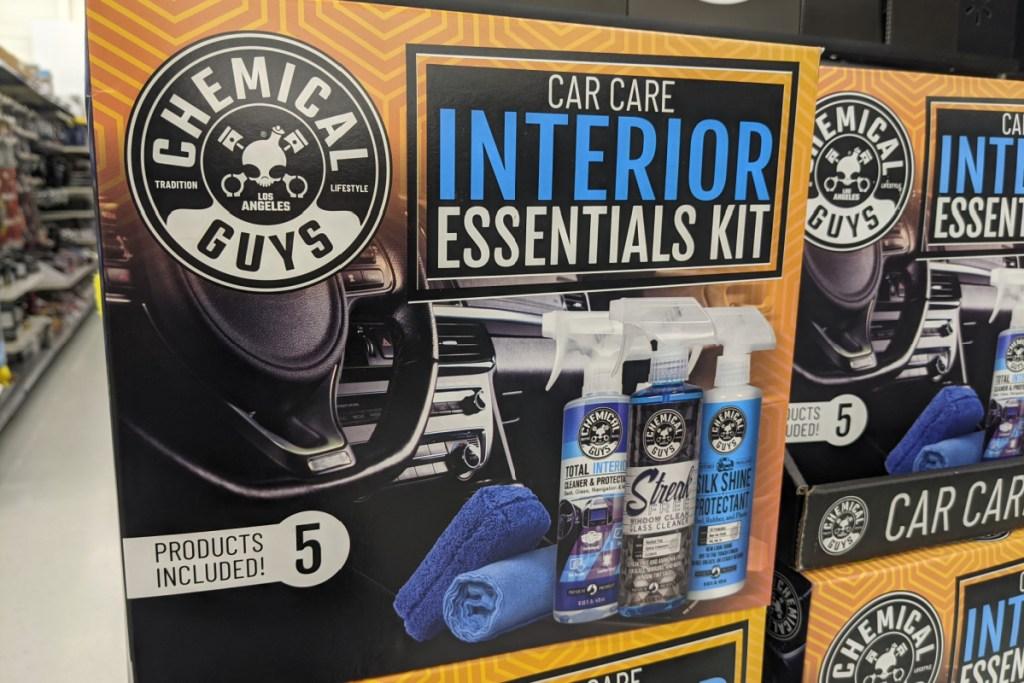 box of car care essentials