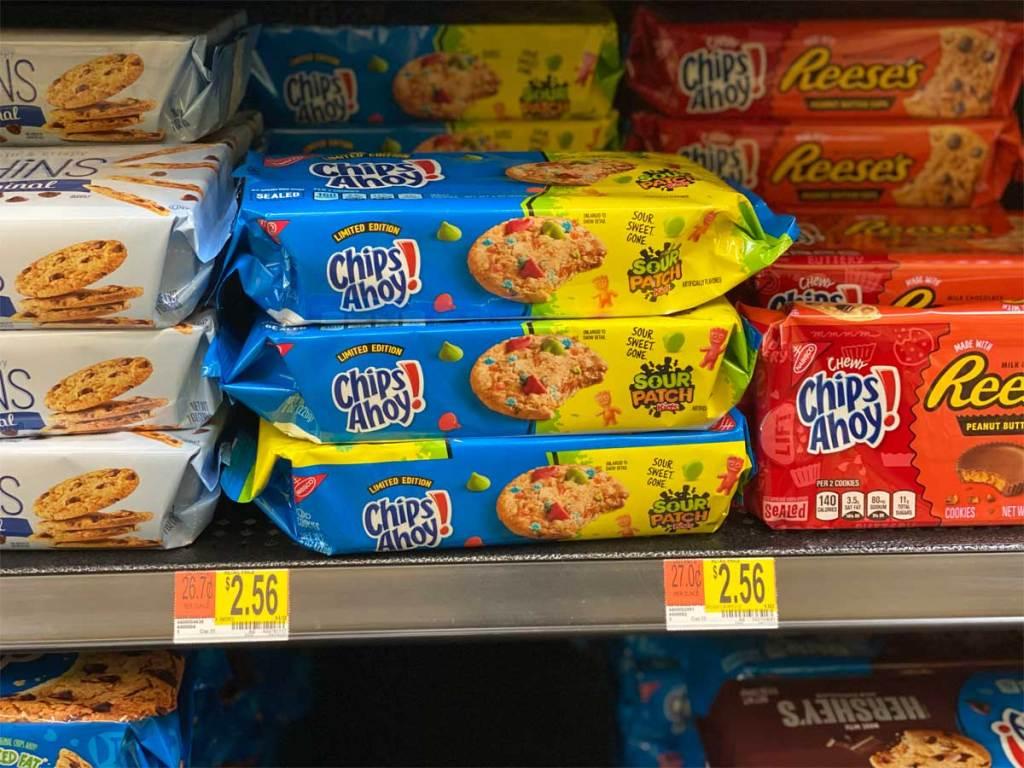 packages of cookies on display in store