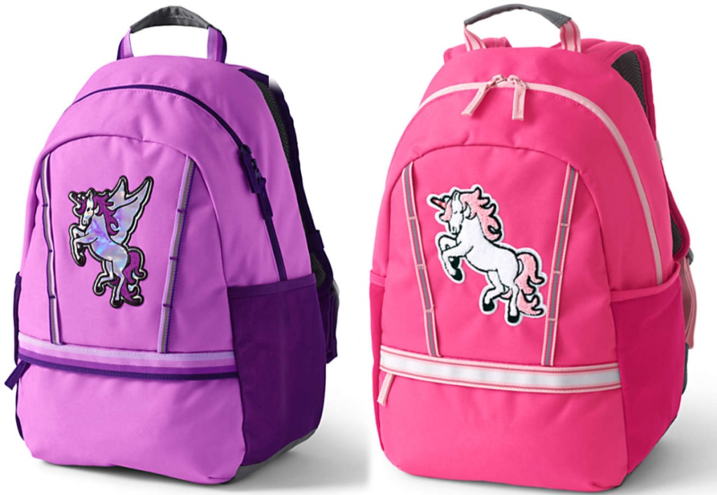 purple and pink unicorn bags