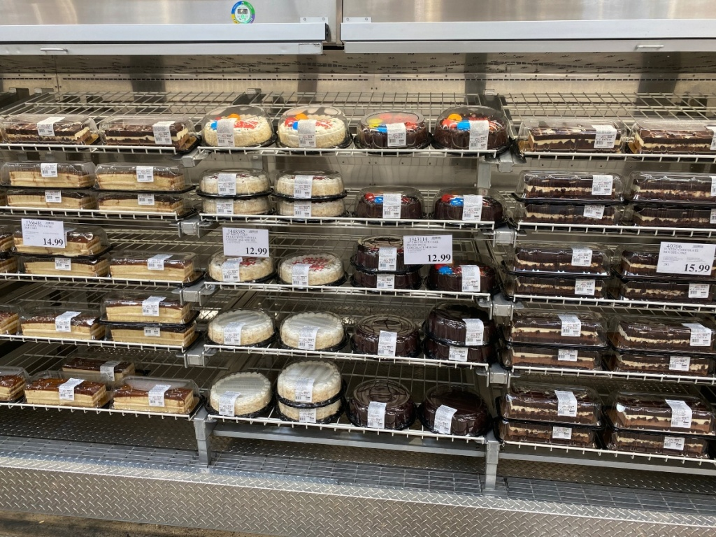 cakes in the Costco bakery