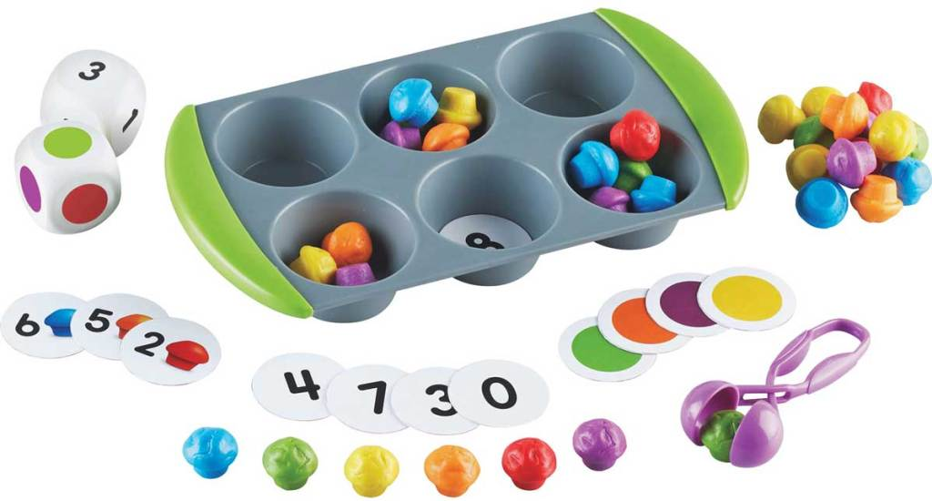 muffin learning game with pieces