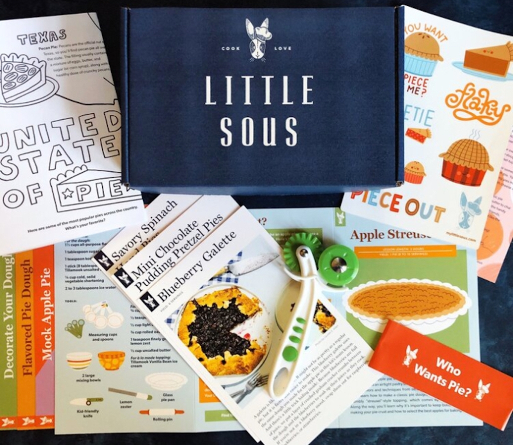 little sous box with various recipe cards