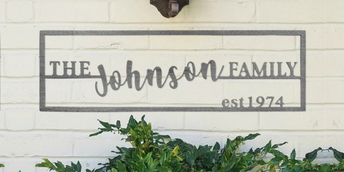 Custom Family Name Plaque Only $19.99 Shipped (Regularly $70)