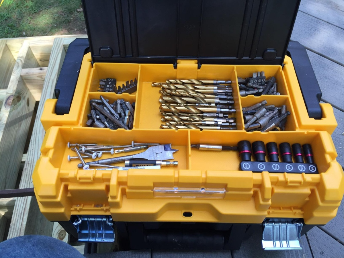 black and yellow tool storage case
