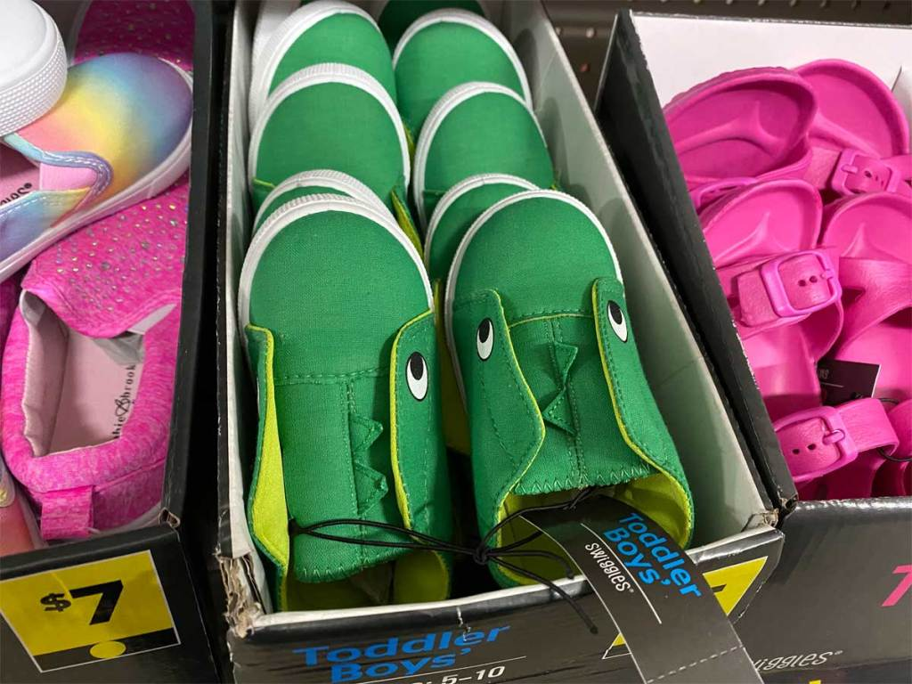 Alligator shoes in box