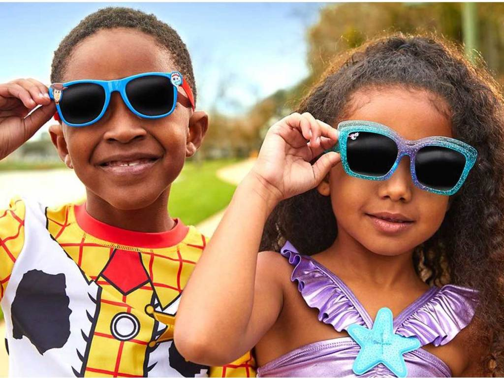two kids wearing sunglasses