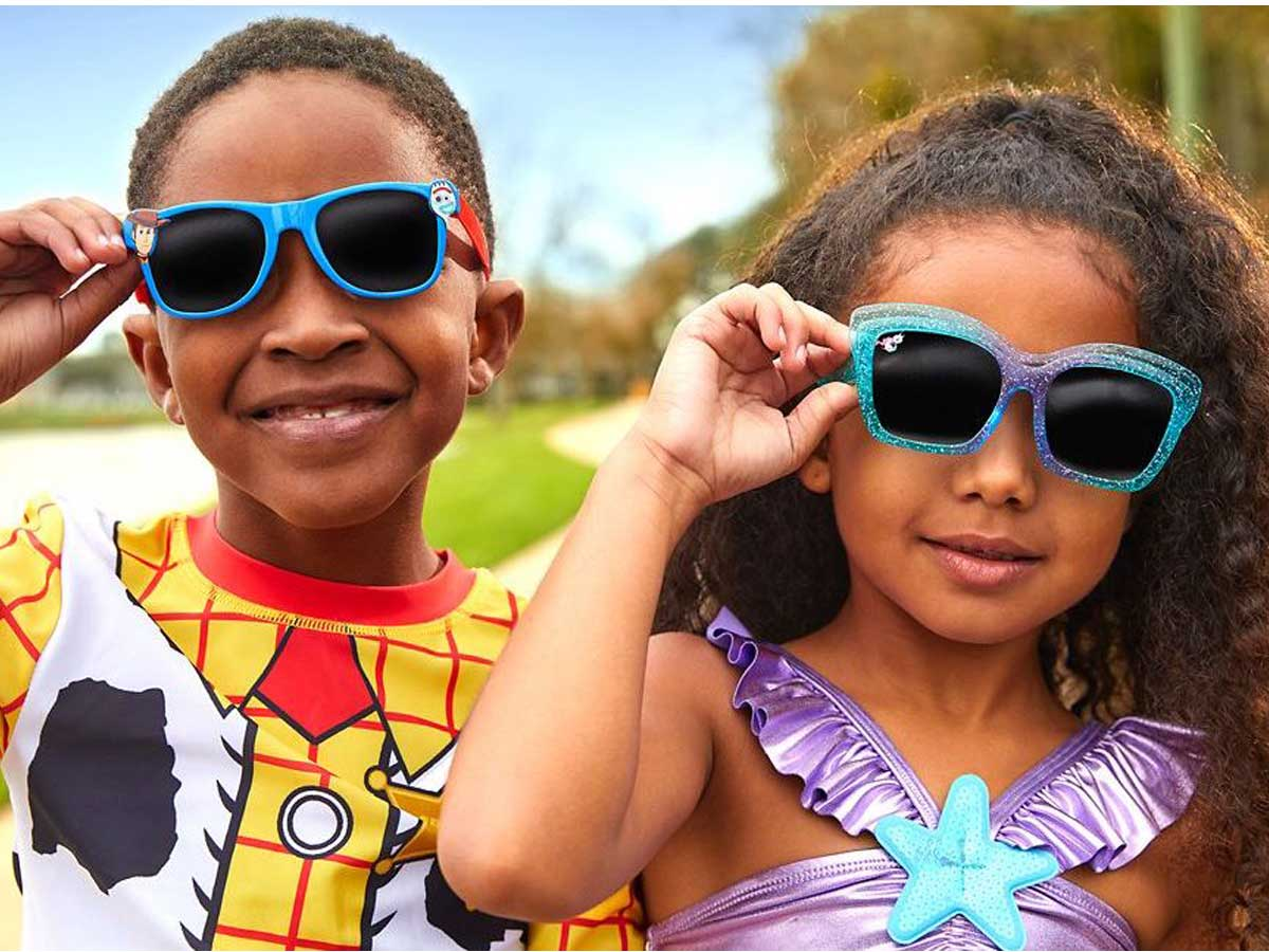 disney sunglasses boy and girl wearing them