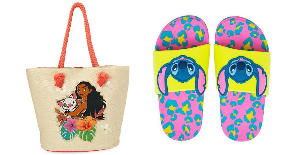 disney swim bag and kids beach slides
