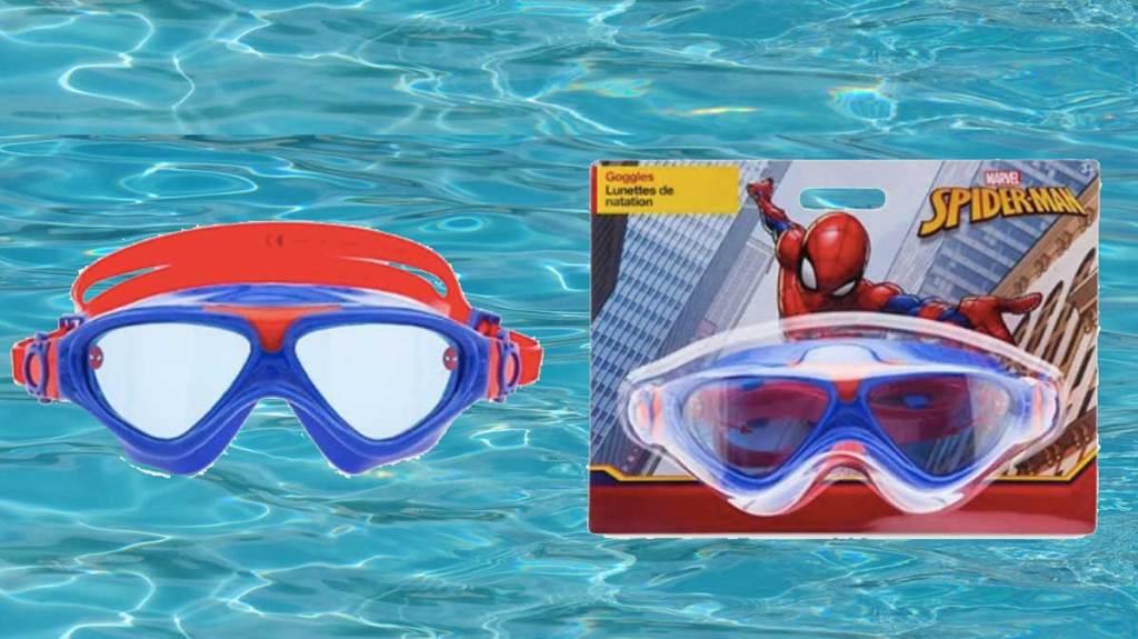 spiderman swim goggles