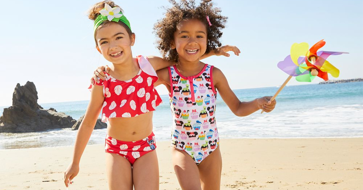 two girls at beach