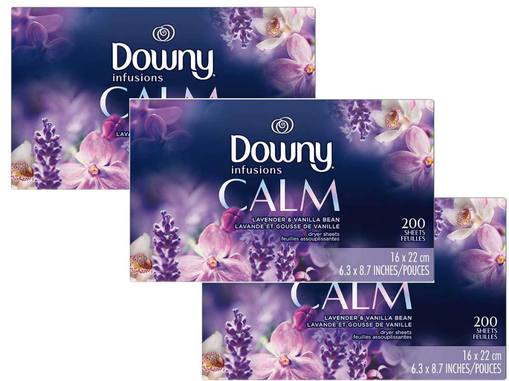 downy calm dryer sheets