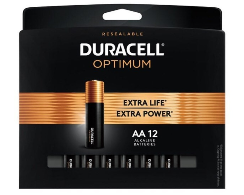 duracell AA batteries 12-pack in box