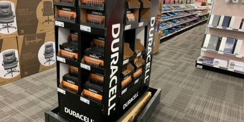 FREE Duracell Battery 12-Packs After Office Depot Rewards