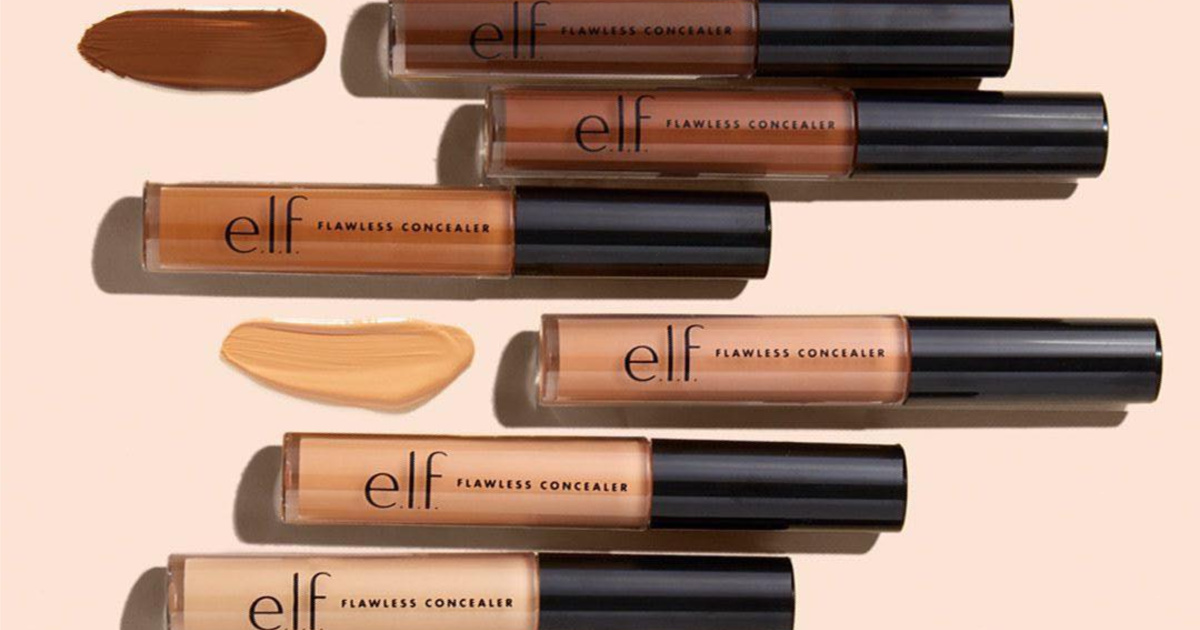 various colored tubes of concealer