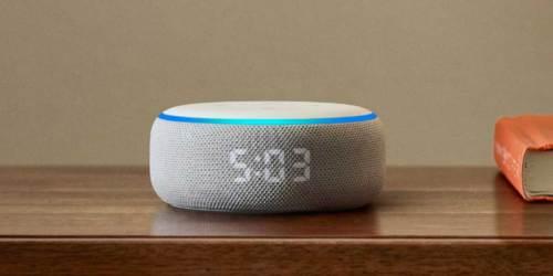 Echo Dot 3rd Generation w/ Clock Just $34.99 Shipped on Amazon (Regularly $60)