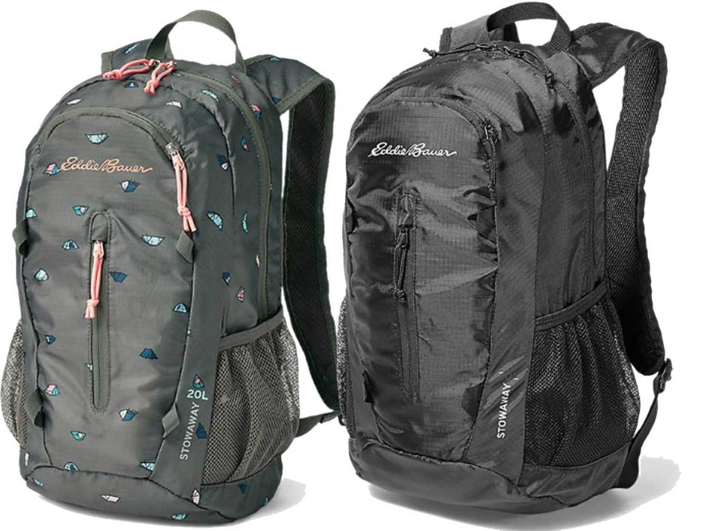 back packs in two styles stock images