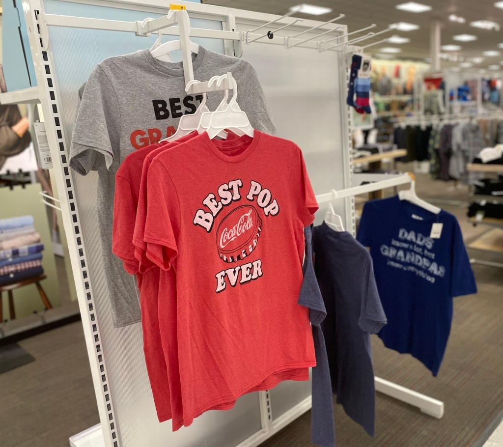 fathers day tees on display at target