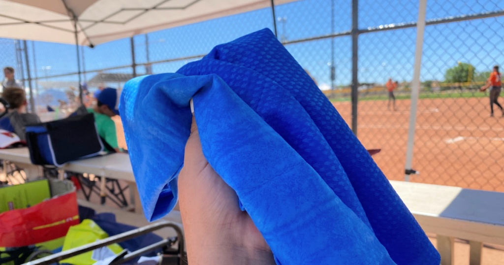 frogg togg towel while watching sports