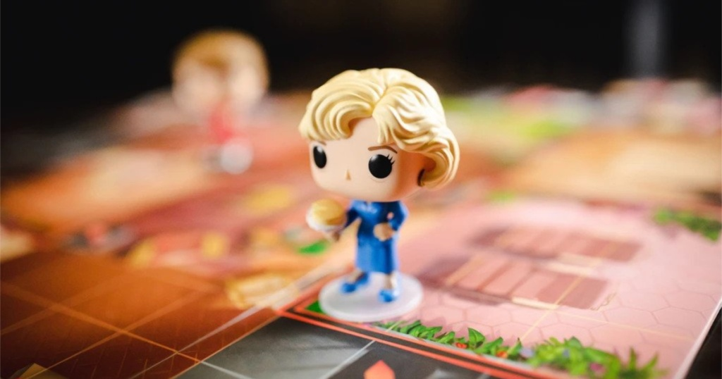 funko pop! golden girls game on board