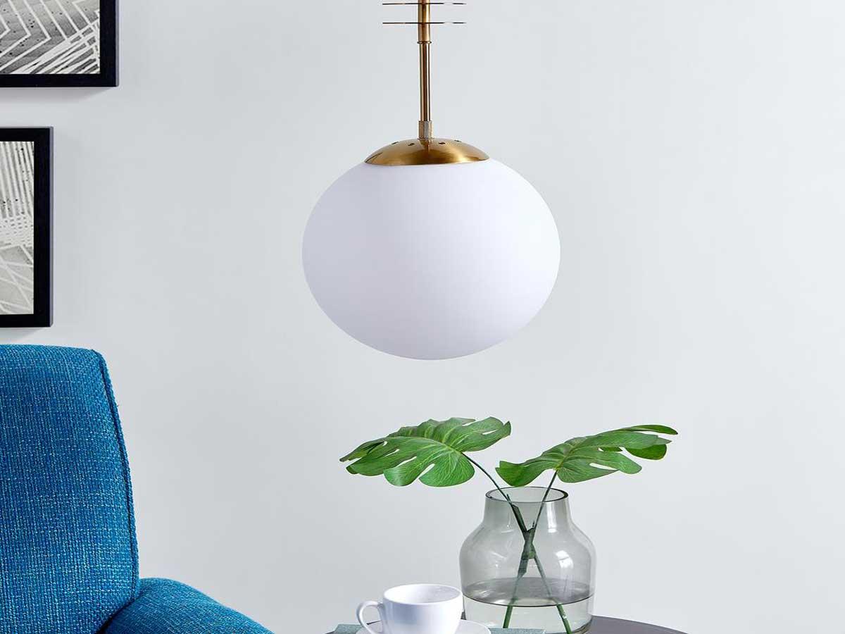 white globe lamp