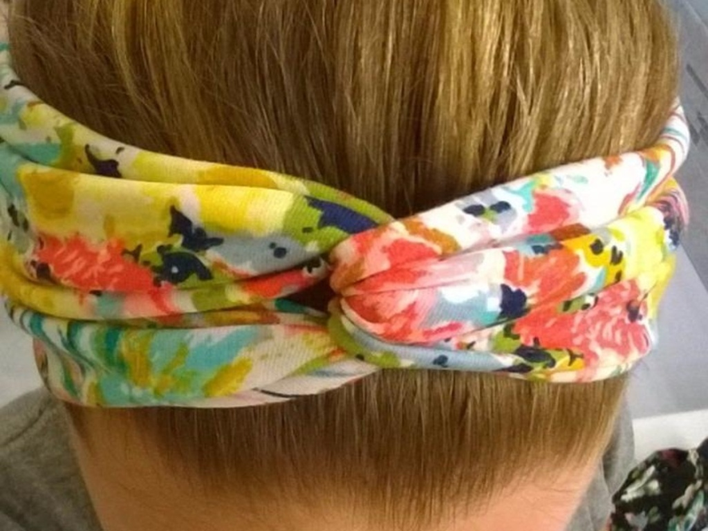 twisted floral headband