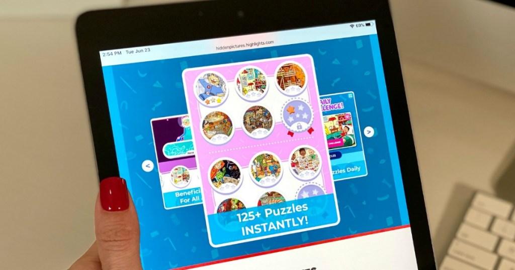 highlights digital puzzle on ipad