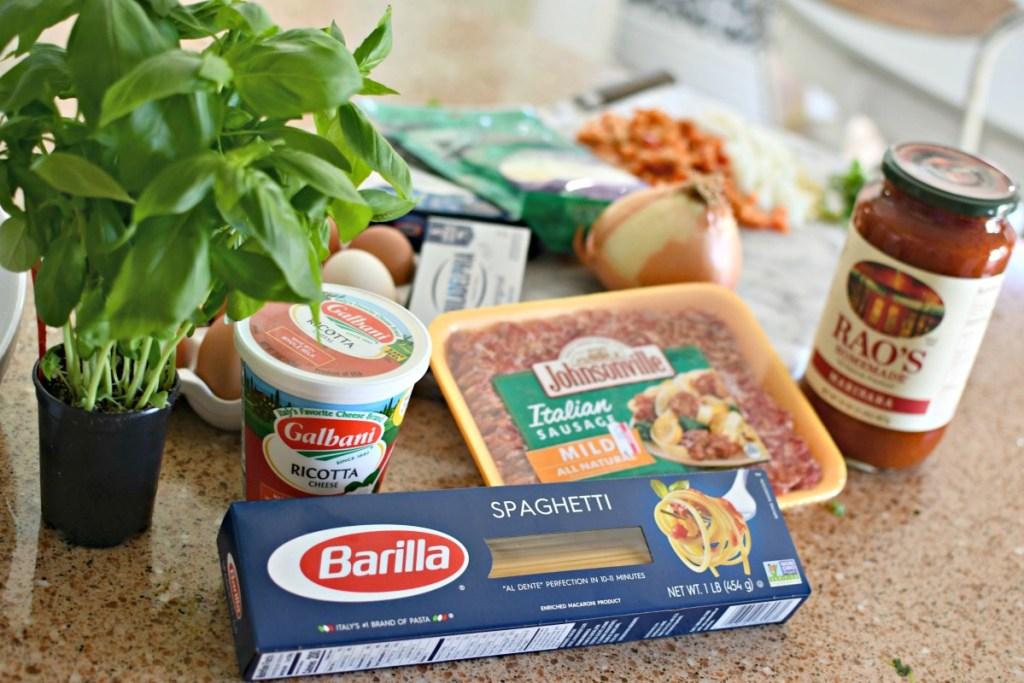 ingredients for million dollar spaghetti