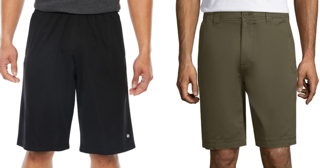 men wearing black and green shorts
