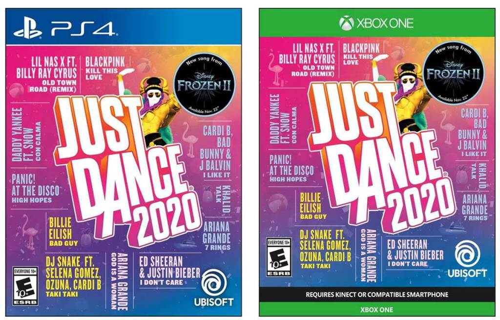 stock images of just dance 2020 ps4 and xbox