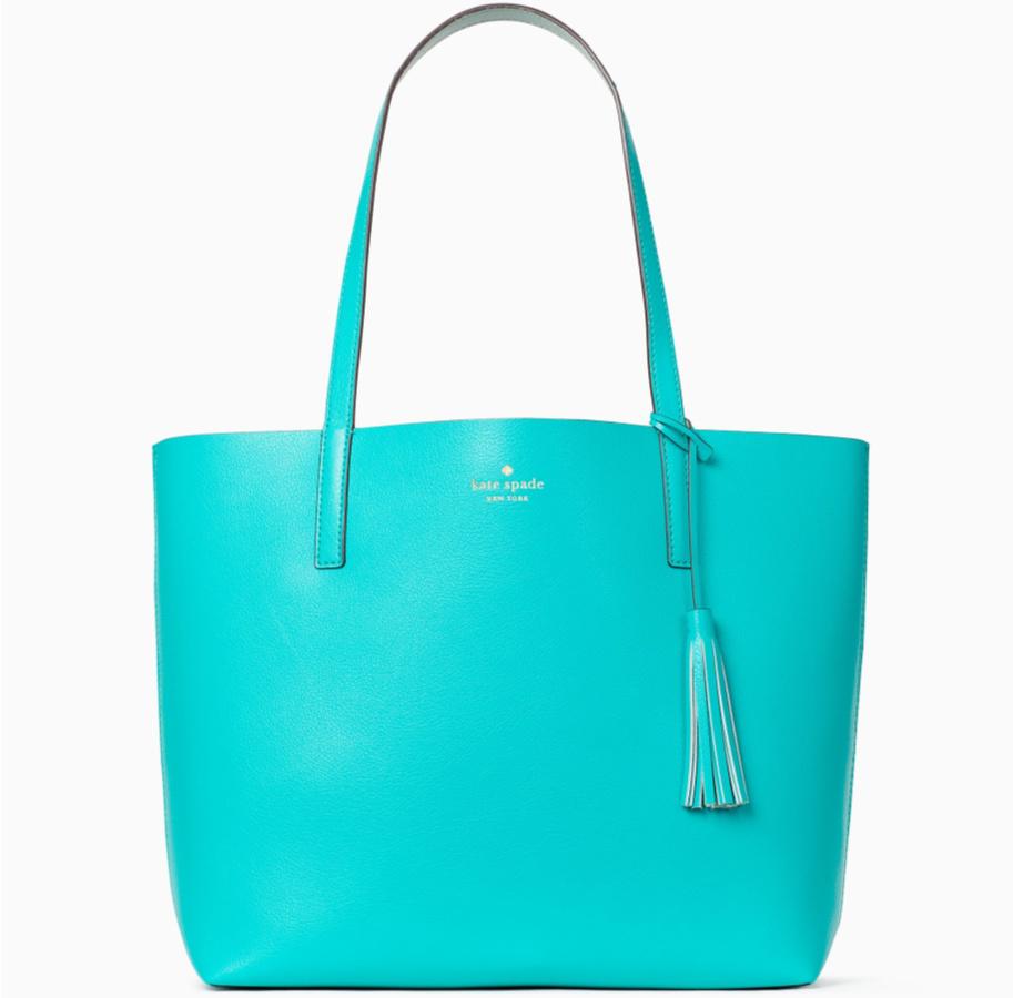 blue green kate spade tote bag