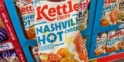 Nashville Hot Chicken or Cuban Sandwich Kettle Chips Just $1.89 at ALDI