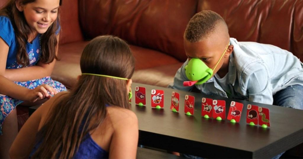 kids playing Tic Tac Tongue Game
