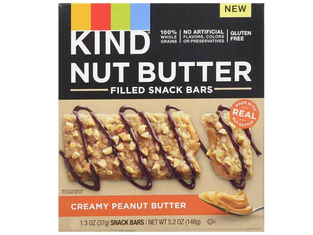 kind nut butter snack bar box stock image