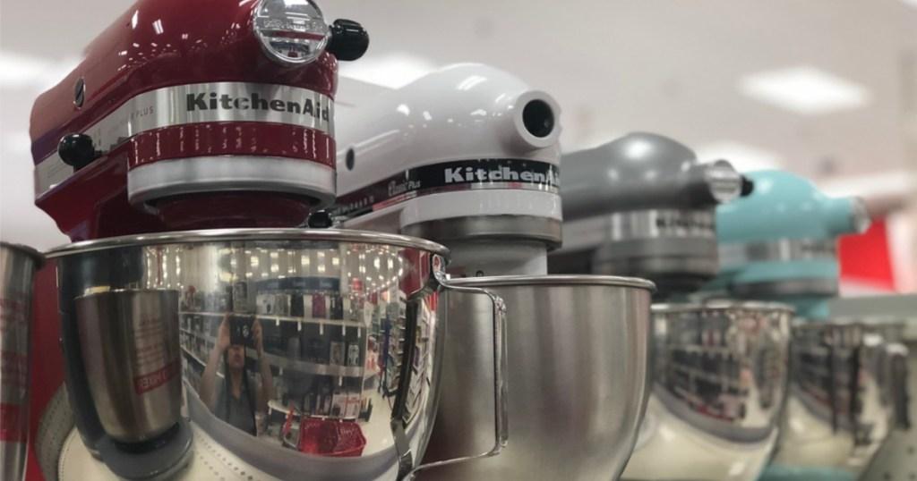 kitchenaid variety on shelf