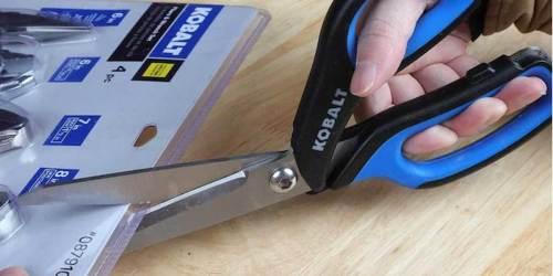 Kobalt Heavy Duty Stainless Steel Scissors 2-Pack ONLY $7.98 on Lowes.com (Regularly $15)