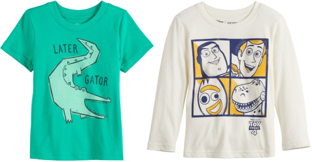 boys short sleeve and long sleeve graphic tees